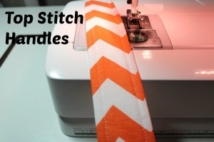 top stitch handles