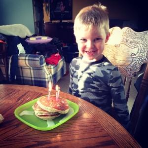 Fun Fetti Pancakes for Birthday breakfast