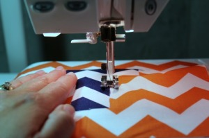 sewing on t