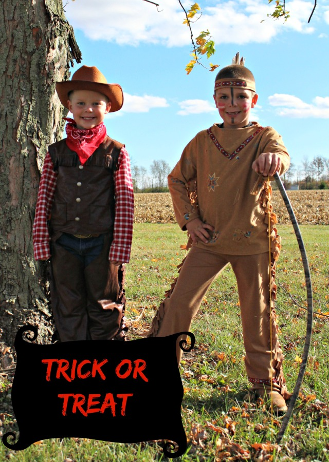 DIY Indian and Cowboy Kids Costume